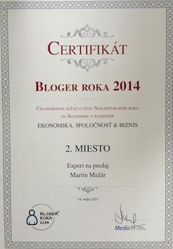 Bloger roka certifikat