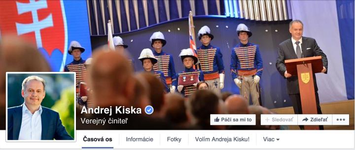 Titulná fotka Facebook Andrej Kiska