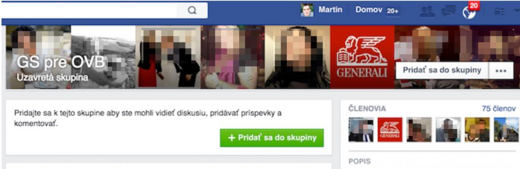 Generali slovensko Facebook skupina
