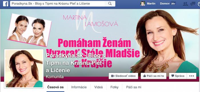 Martina Lamošová - facebook fanpage