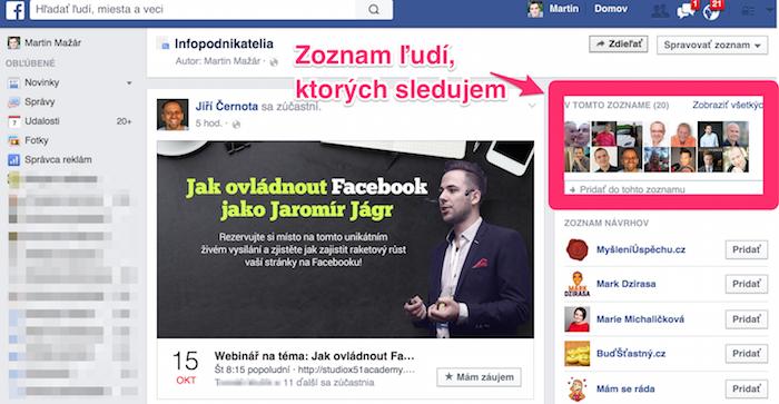 Prečo byť na Facebooku - záujmy