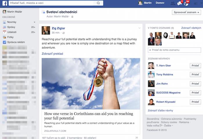 Prečo mať Facebook - svetoví obchodníci