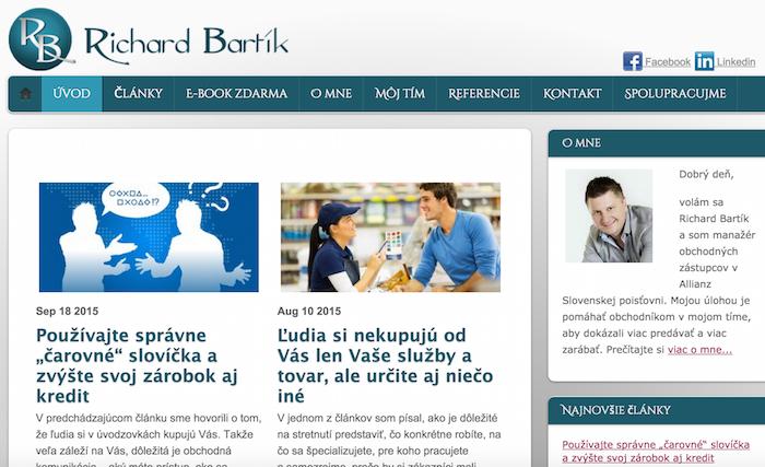 Richard Bartík - web
