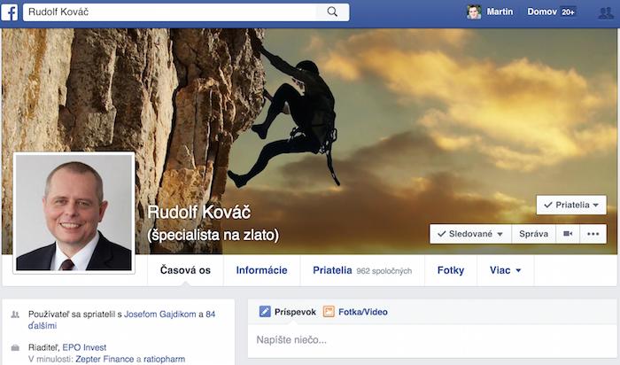 Rudo Kováč - profil na Facebooku