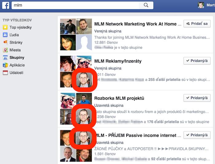 facebook skupiny - mlm dušan daniel