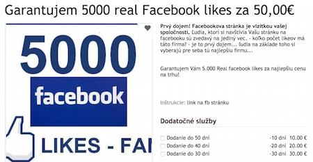 facebook chyba - kupovanie páči sa mi
