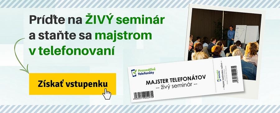 seminár Majster telefonovania