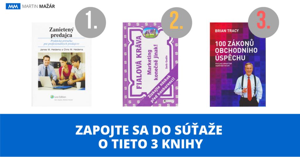 súťaž o knihy o predaji