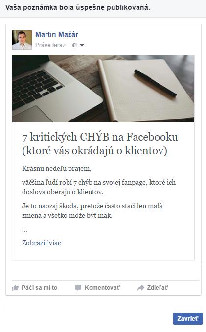 Ako napísať článok na Facebook