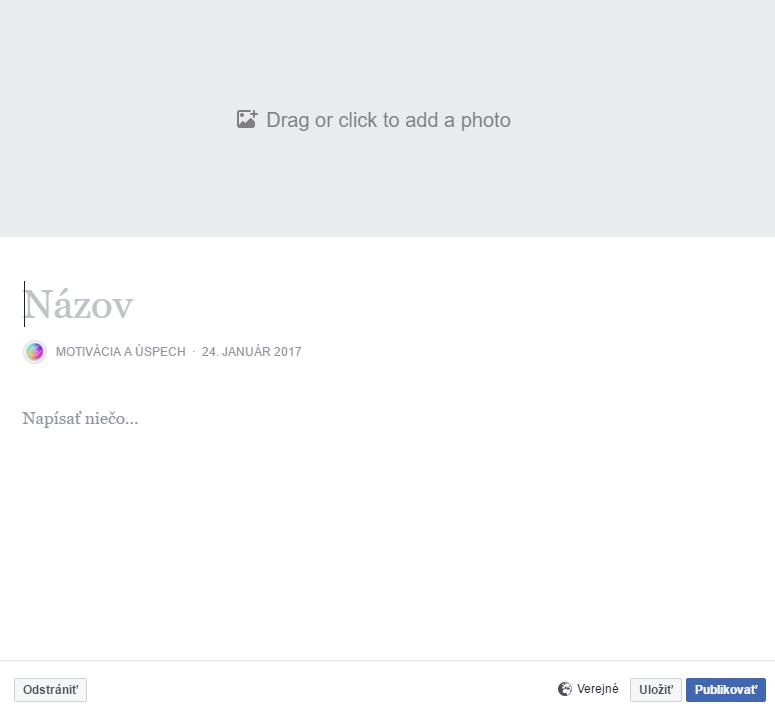 Ako pridať článok na Facebook