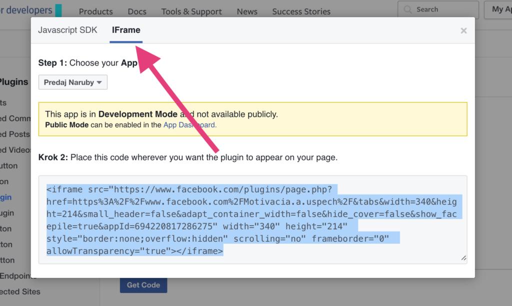 Facebook Page Plugin - IFrame