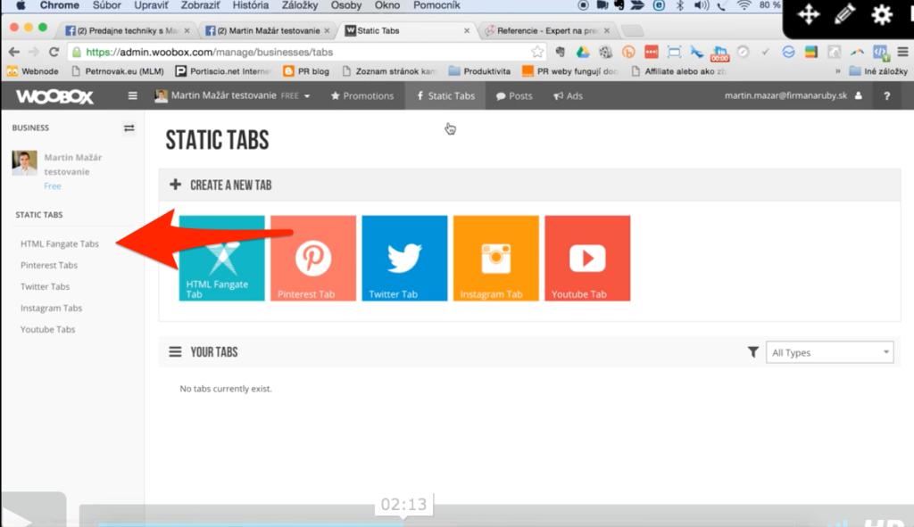 ako prepojiť fanpage a web