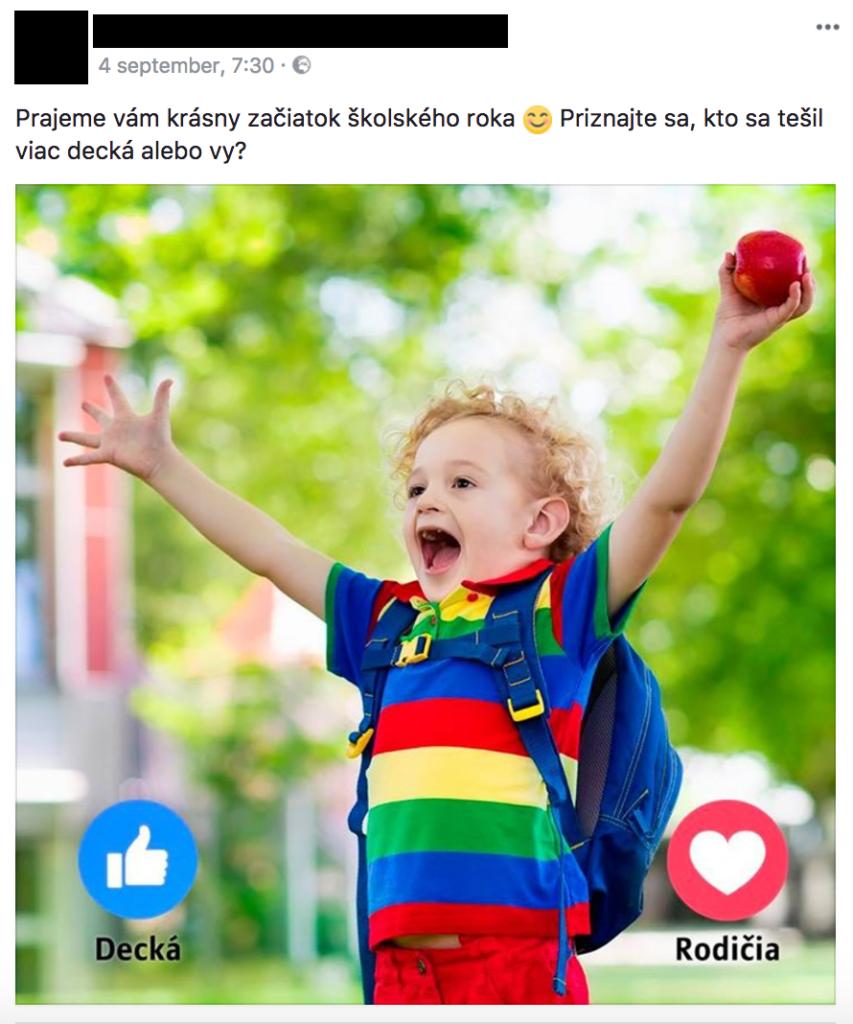 Facebook príspevok penalizácia 1