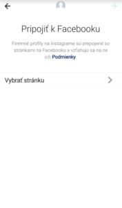 ako prepojiť účet na Instagrame s fanpage na Facebooku