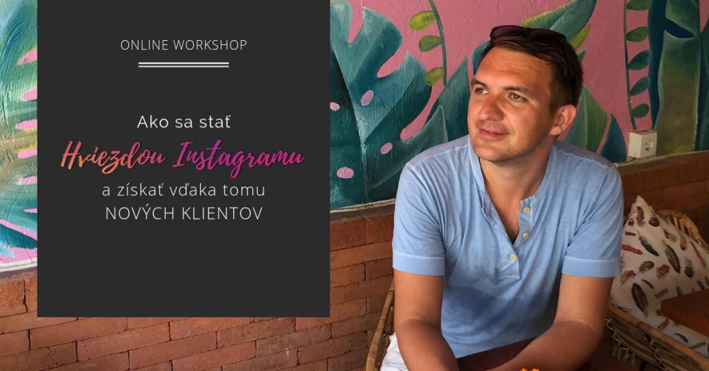 Online workshop Instagram školenie