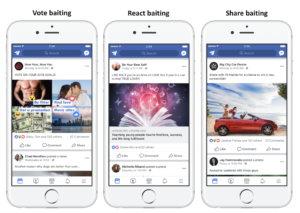 Facebook prispevky - baiting