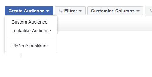 Facebooku reklama cielenie - vytvorenie publika