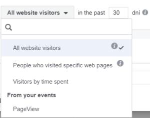 publikum na základe návštevnosti stránky