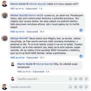 Diskusia pod príspevkom v skupine Online lídri