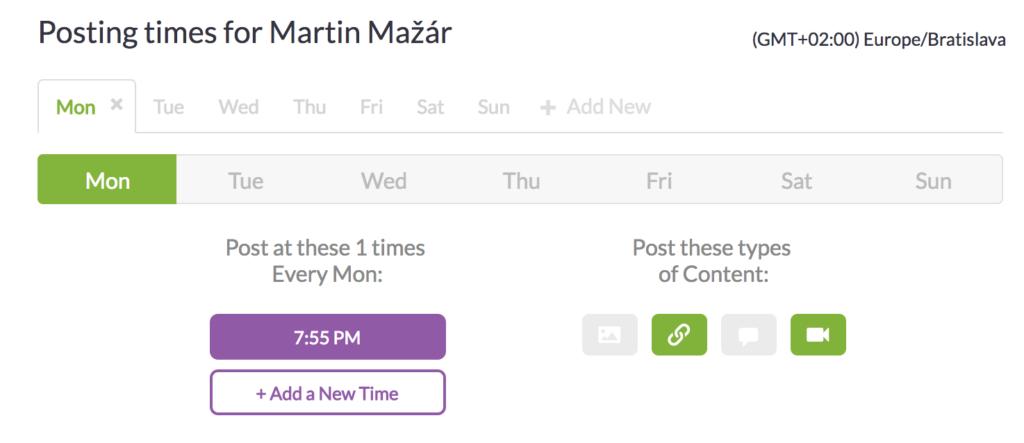 Postplanner aplikácia na plánovanie príspevkov - kalendár